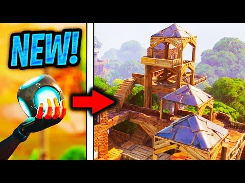 """🔴NEW """"PORT-A-FORT"""" GRENADE IN FORTNITE! NEW GRENADE FORT GRENADE FORTNITE BATTLE ROYALE! (Gameplay)"""