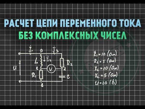 Расчет цепи переменного тока БЕЗ комплексных чисел