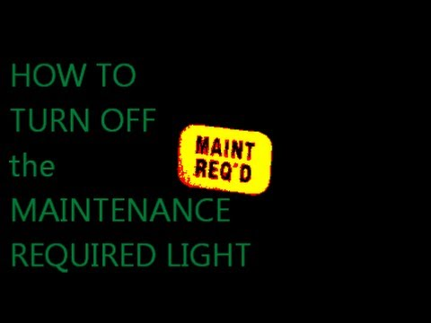 HOW TO turn off MAINTENANCE REQUIRED LIGHT on Honda Accord ...