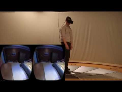 Using the Omnideck 6 Omnidirectional Treadmill to explore a depth-scanned property
