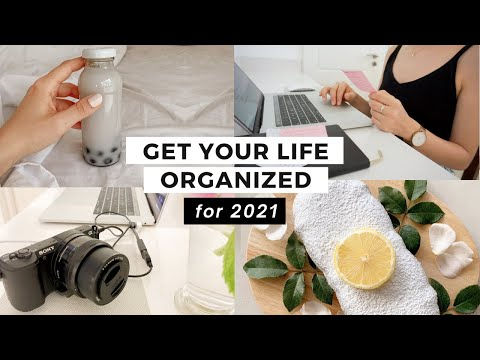 How to ORGANIZE and RESET your Life for 2021 (in ONE WEEK)✨