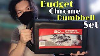 Unboxing York Fitness Chrome 20kg Dumbbell w/ Longbar | Mega Budget Dumbbell Set!