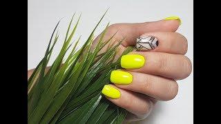 Маникюр на коротких ногтях I Геометрия на ногтях I Летний дизайн ногтей