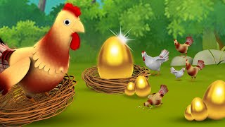 The Golden Egg Bengali Story - গোল্ডেন ডিম বাংলা গল্প 3D Animated Bangla Stories for Kids Tales