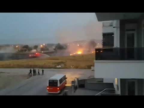 Karaman'da ot yangını mahalleyi korkuttu