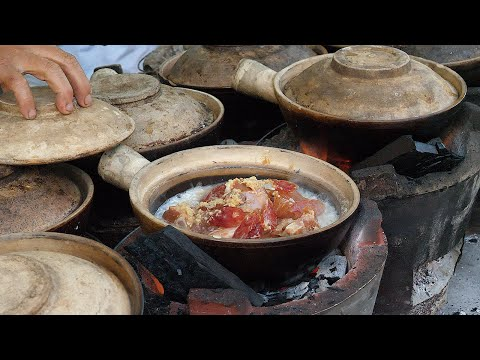 Chicken Rice Steamed In Claypot - Malaysian Street Food