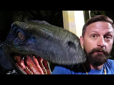 At Universal Orlando For The Jurassic Park Meet Up! | We Met Blue The Raptor & Jurassic World Alive!