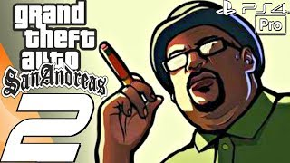 Grand Theft Auto San Andreas - Gameplay Walkthrough Part 2 - Fat CJ (Remaster) PS4 PRO