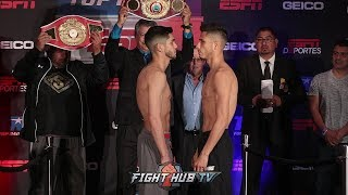 ALEX SAUCEDO VS ABNER LOPEZ - FULL WEIGH IN & FACE OFF VIDEO