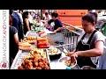 THAI STREET FOOD VENDORS @ Bang Rak Bangkok - From BTS to Lebua State Tower