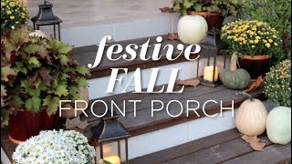 Our Festive Fall Front Porch