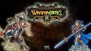 Warmachine & Hordes - Protectorate of Menoth (P-Reznik) vs. Cygnar (P-Haley) - 50pt Battle Report