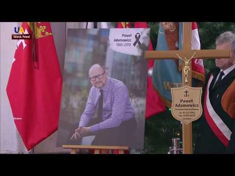 Funeral of Pawel Adamowicz in Gdansk