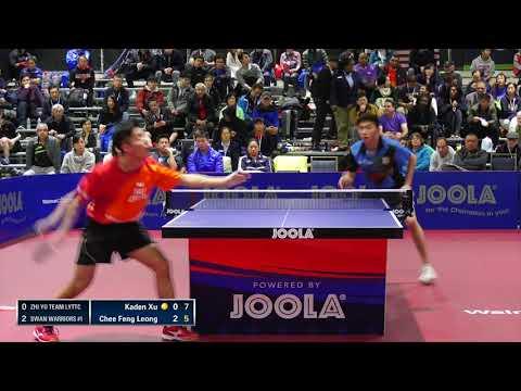 2018 JOOLA NA Teams Championships - Div 1 SF - Kaden Xu vs Chee Feng Leong (Highlights)