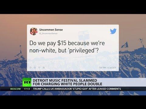Detroit music festival slammed for charging white people double
