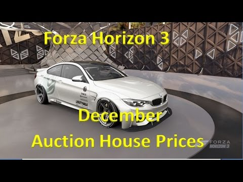 forza horizon 3 auction house prices december youtube. Black Bedroom Furniture Sets. Home Design Ideas