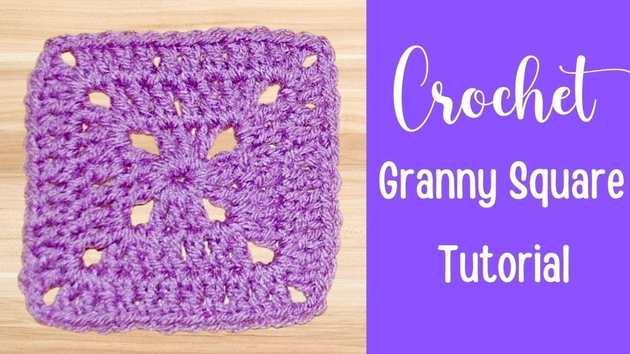 solid granny square tutorial