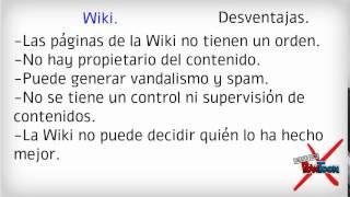 Pagina Web, Wiki y Blog.