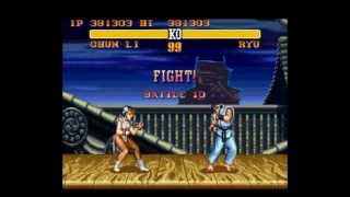 Street Fighter II Turbo(SNES)-Chun Li Playthrough