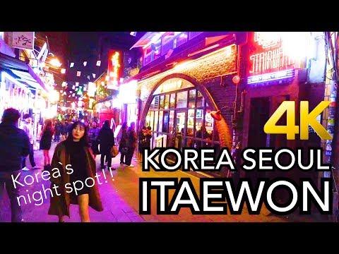 【韓国旅行/梨泰院】Korea Seoul Itaewon 4K -just walking (club street)-