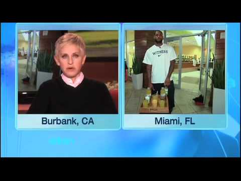 LeBron James Surprises Ellen's Writer