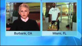 LeBron James Surprises Ellen