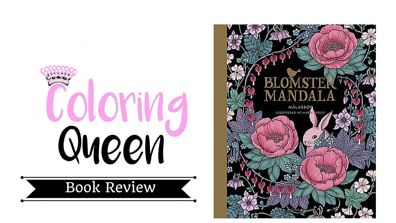Blomster Mandala Twilight Garden Adult Coloring Book Review