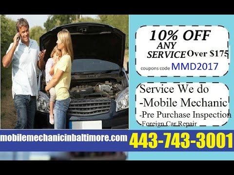 Auto Repair Coupons deals Special Offers for Baltimore Mobile Car Mechanic Service