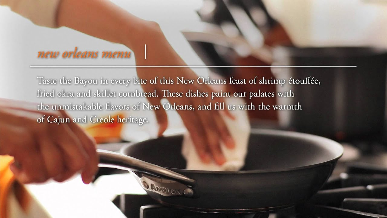 New Orleans Menu Recipe Overview - Southern Food Recipes - Anolon
