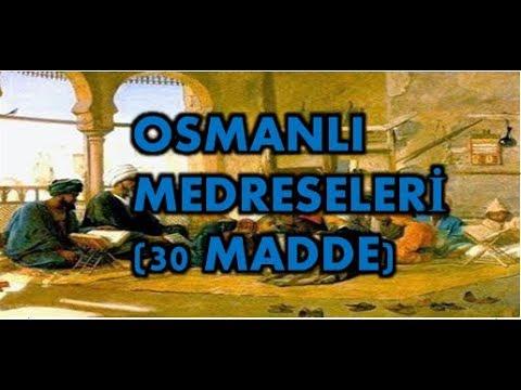 30 maddede Osmanlı medreseleri (Taner Hoca)