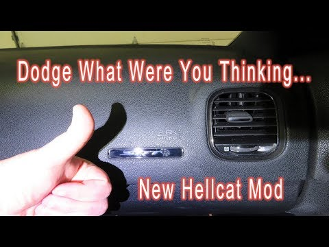How To Replace Passenger Side Dash Plaque In 2016 Dodge Charger Hellcat