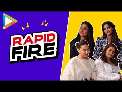 SENSATIONAL rapid fire with Kareena, Sonam, Swara & Shikha | Full UNCUT