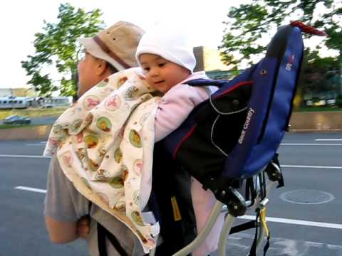Funny Baby On Kelty Backpack Carrier