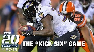 #16: Ravens vs. Browns (Week 12) | Top 20 Games of 2015 | NFL