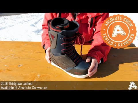 2017 / 2018   Thirtytwo Lashed Snowboard Boots   Video Review