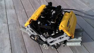 LEGO V8 pneumatic Engine. LPE, HIGH RPM!!!!!!!!