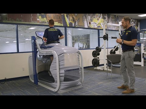 Demonstration of Anti-Gravity Treadmill at Michigan Medicine