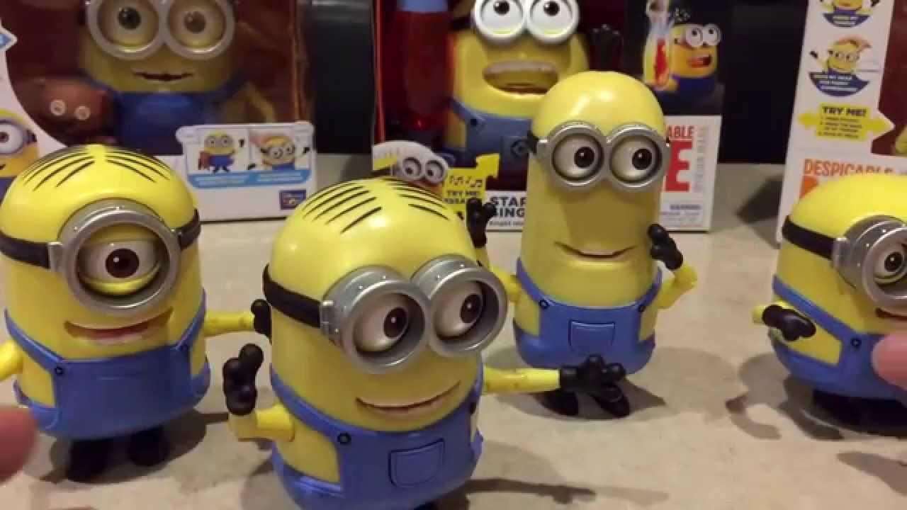 Stuart /& Dave Minions Movie Deluxe Action Figure Set w minion Bob Kevin