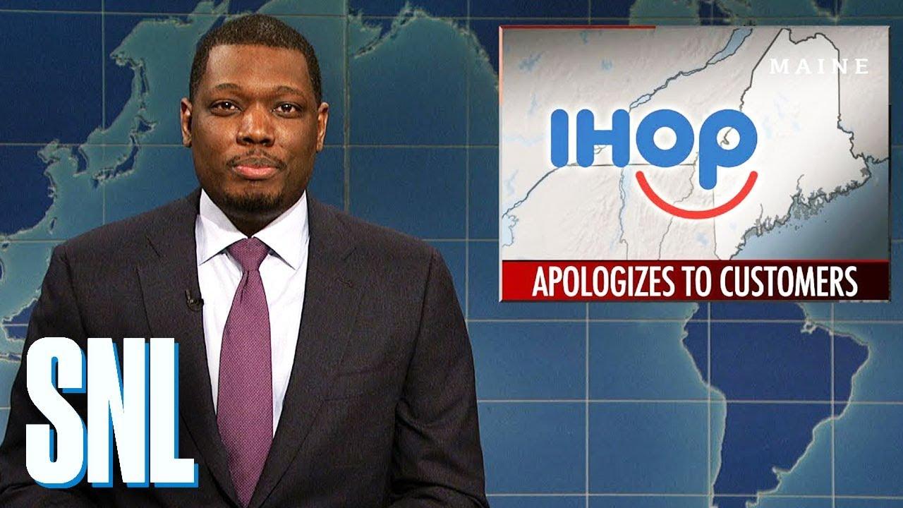 Weekend Update on IHOP's Apology - SNL - YouTube