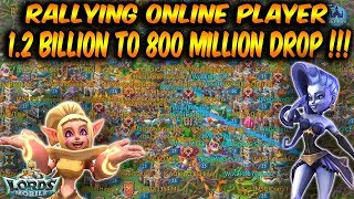 Online 1.2 Billion Might Player Dropped To 800 Million  - Lords Mobile