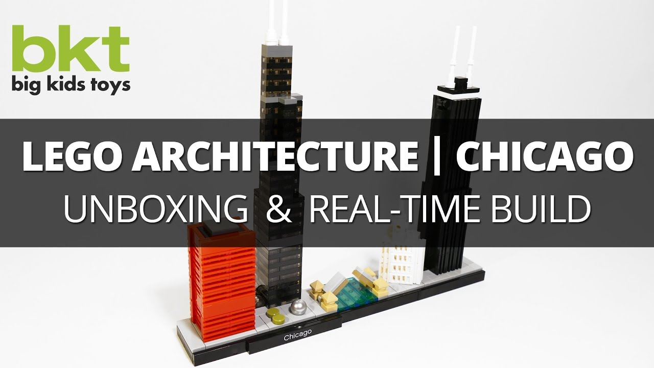 Lego Architecture Chicago Skyline 21033 Unboxing Review And Real Time Build