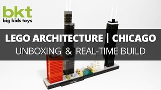 Lego Architecture Chicago Skyline 21033 – Unboxing , Review, and Real-Time Build