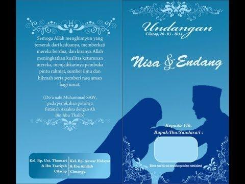 Desain Undangan Pernikahan Islami Youtube