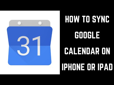 How To Sync Google Calendar On IPhone Or IPad