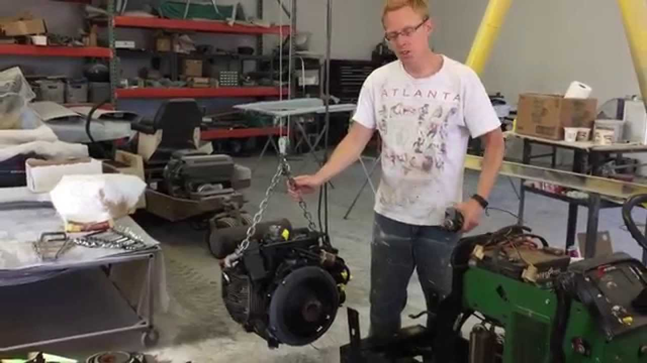 John Deer 420 Lawn Tractor Remove Engine And Starter Youtube Deere 425 Wiring Diagrams