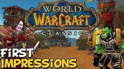 World Of Warcraft Classic Demo First Impressions