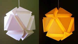 3D geometric pendant lamp - Paper lantern DIY - EzyCraft