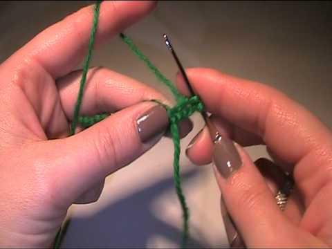 Anleitung Häkeln lernen - Vorlage der Muschelstich - YouTube