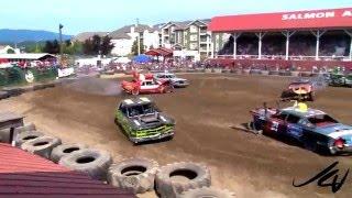 2012 Salmon Arm Demolition Derby  - Heat 5 -  YouTube