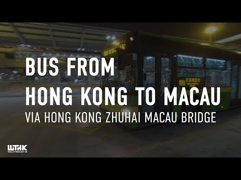 Bus From HK 香港 to Macau 澳門 via Hong Kong-Zhuhai-Macau bridge journey 行程 // Walkthrough HK